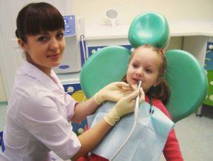 Фото: Лечение кариеса озоном у детей