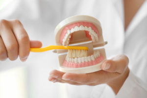 Фото: Чистим зубы щеткой