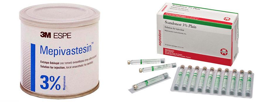 Мепивастезин и скандонест