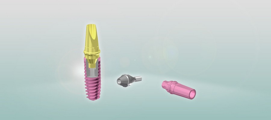 розовая шейка импланта radix balance