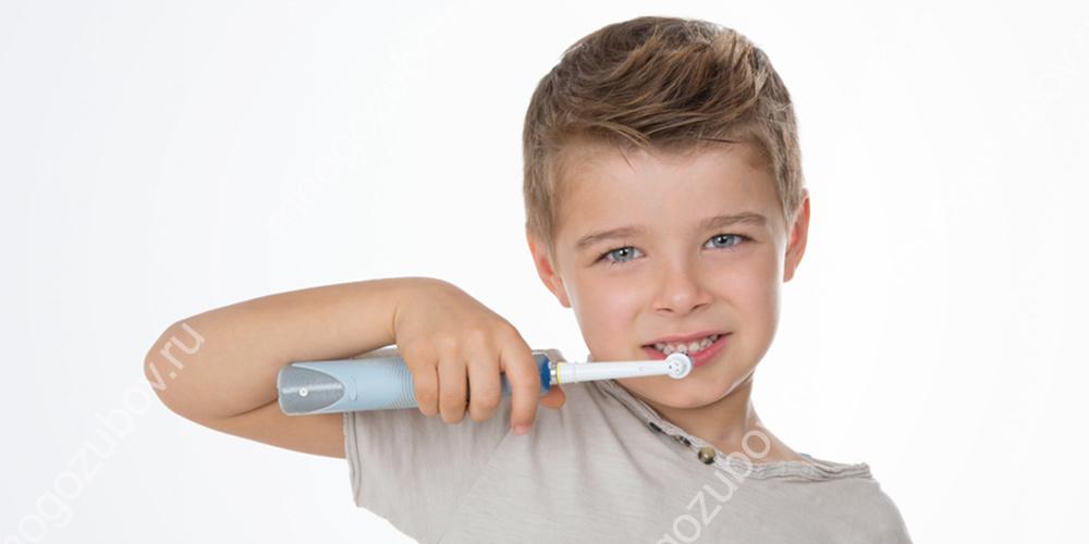 Электрическая зубная щетка для детей от 3 до 7