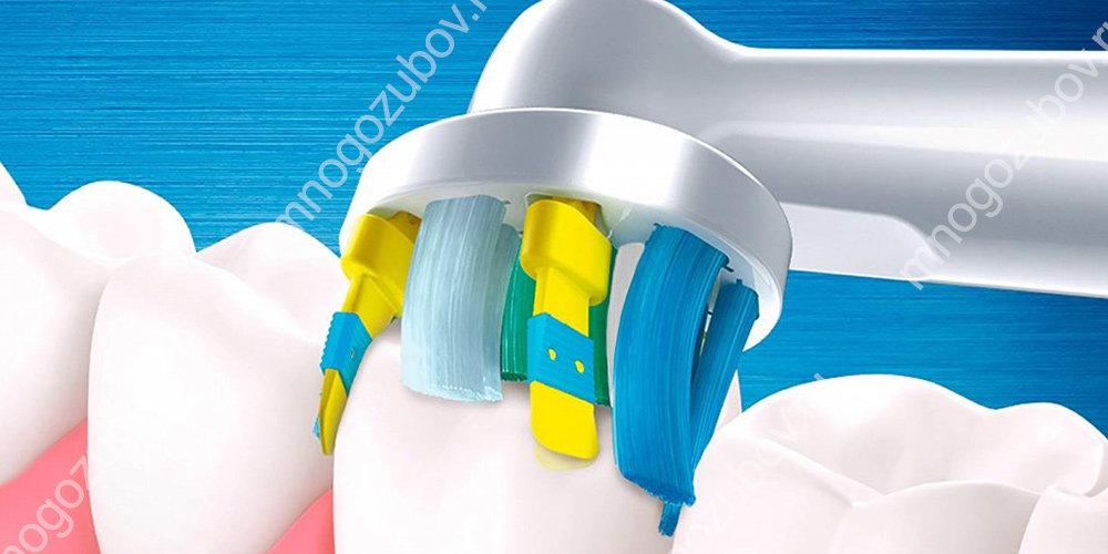 Принцип действия электрической зубной щетки Oral B