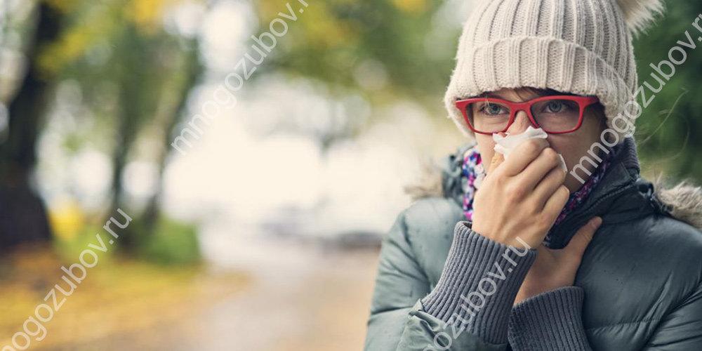 Герпес может проявляться во время простуды