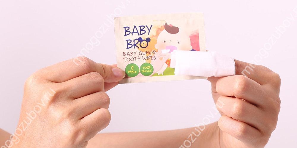 Салфетки для чистки зубов детям