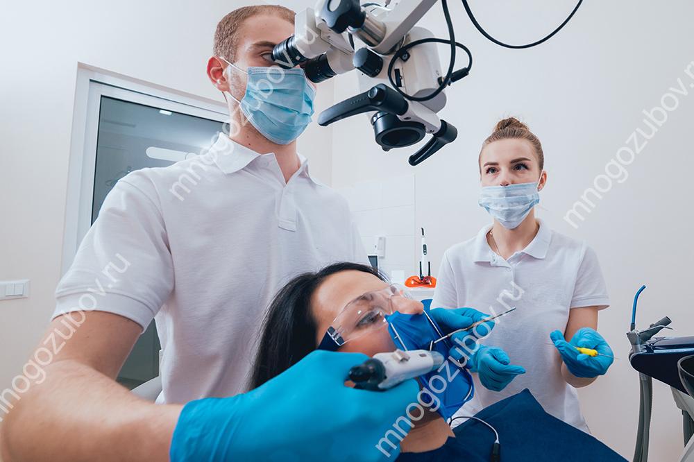 Лечение канала зуба под микроскопом