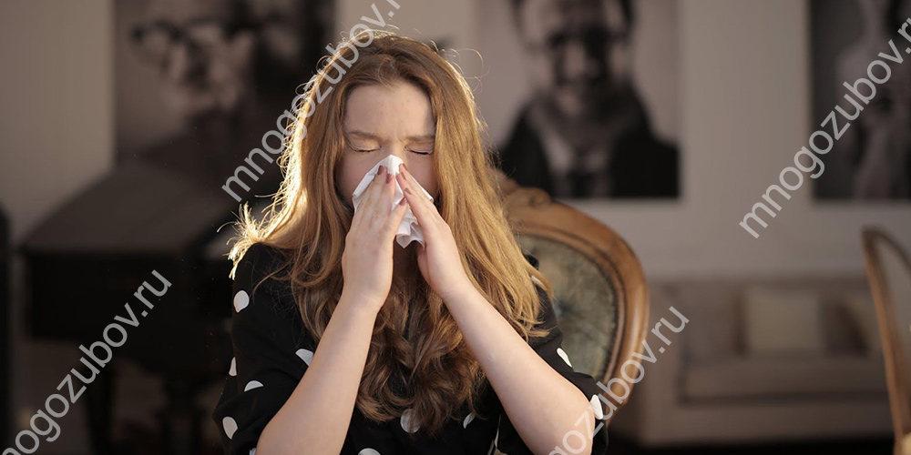отек как результат аллергии